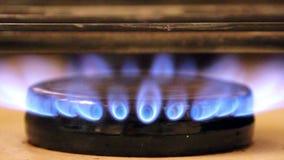 De vlam van de fornuisbrand stock videobeelden