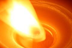 De vlam van de kaars Stock Fotografie