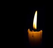 De vlam van de kaars Stock Afbeelding
