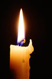 De vlam van de kaars Stock Foto