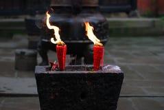De vlam van de kaars Royalty-vrije Stock Afbeeldingen