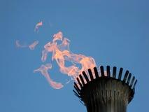 De vlam van de toorts royalty-vrije stock fotografie