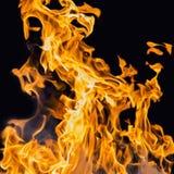De vlam van de uitbarstingsbrand stock afbeeldingen