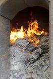 De vlam van de wierookbrander Stock Foto