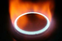 De vlam van Gass Stock Foto's