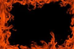De vlam van het frame Stock Afbeeldingen