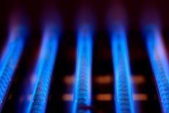 De vlam van het gas Stock Afbeeldingen