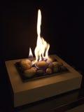 De vlam van het gas Stock Fotografie