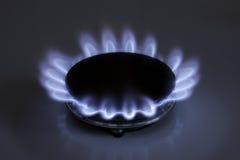 De vlam van het gas Royalty-vrije Stock Afbeeldingen