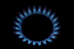 De vlam van het gas Stock Foto's