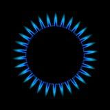 De vlam van het gas van hierboven Stock Fotografie