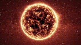 De vlam van de zonanimatie De ster van de brand royalty-vrije illustratie
