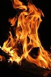 De vlammen van de brand Royalty-vrije Stock Foto