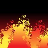 De vlammen van de brand Royalty-vrije Stock Afbeeldingen