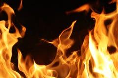 De vlammen van de brand stock foto