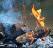 De Vlammen van de brand Stock Afbeeldingen