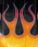 De vlammen van de douane Stock Foto