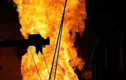 De Vlammen van de fabriek Stock Foto