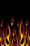 De Vlammen van de fietser Stock Foto's