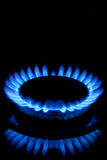De Vlammen van de gashaardplaat royalty-vrije stock foto's
