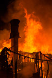 De Vlammen van de huisbrand Stock Fotografie