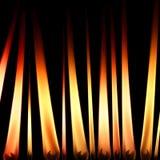 De vlammen van de kaars stock foto