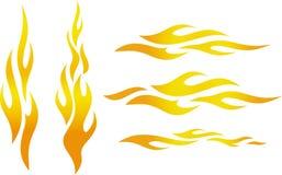 De vlammen van de kleur (Vector) Royalty-vrije Stock Foto's