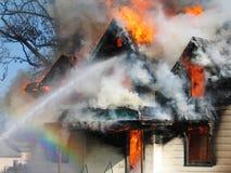 De Vlammen van de regenboog Stock Fotografie