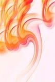 De vlammen van de rook Stock Foto
