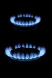 De vlammen van het gas royalty-vrije stock fotografie