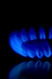 De Vlammen van het gas Stock Afbeelding