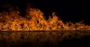 De vlammenachtergrond van de brand stock foto's