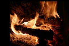 De vlammenachtergrond van de brand Stock Afbeelding