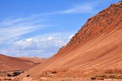 De vlammende berg Stock Foto