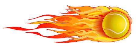De vlammende geïsoleerdel Illustratie van de Bal van het Tennis Royalty-vrije Stock Afbeelding