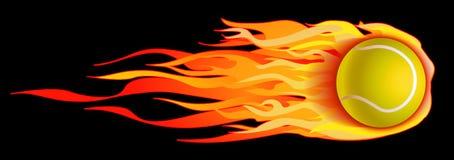 De vlammende Illustratie van de Bal van het Tennis Stock Afbeeldingen