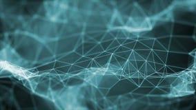 De vlechtoppervlakte voorzag Blauwe Achtergrond van een lus stock video