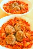 De vleesballetjes van de tomaat Stock Afbeeldingen
