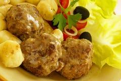 De vleesballetjes van het hertevlees royalty-vrije stock afbeelding