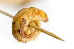 De Vleespennen van de garnalenkebab Stock Afbeeldingen