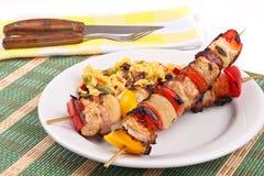 De vleespennen van het vlees met rijst Stock Afbeelding