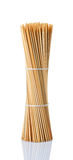 De vleespennen van Kebab, bamboe Stock Foto's