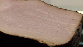 De vleesvreugde van gastronomisch is een stuk stock videobeelden