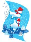 De vleet van de sneeuwman Stock Illustratie