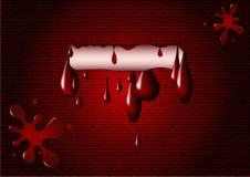 De vlek van het bloed op de muur Stock Afbeelding