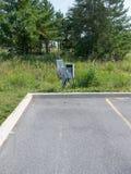De vlek van het elektrisch voertuigparkeren Stock Foto's