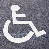 De vlek van het parkeren voor de gehandicapten Stock Afbeelding