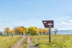 De vlek van de kant van de wegpicknick boven Kraai-Rivierpas stock fotografie