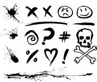De Vlekken en de Symbolen van de inkt vector illustratie