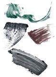 De vlekken van de mascara Stock Afbeelding